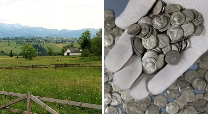 Un contadino ritrova accidentalmente un antico tesoro nei suoi campi: 1.753 monete romane