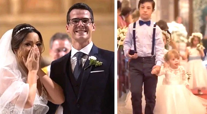 The groom surprised his wife during the ceremony by bringing her young disabled patients to the church