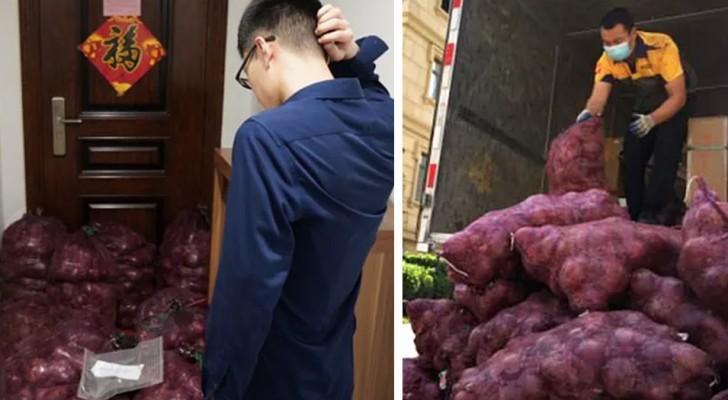 Le envía 1.000 Kg de cebollas a su ex novio por castigo: