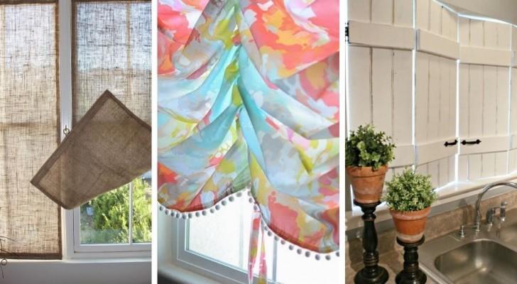 17 spunti creativi per rinnovare l'aspetto delle vostre finestre realizzando tende e pannelli fai-da-te