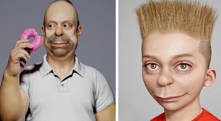 Un artiste recrée les personnages des Simpsons grâce à une modélisation en 3D : ils semblent sortis de la vie réelle