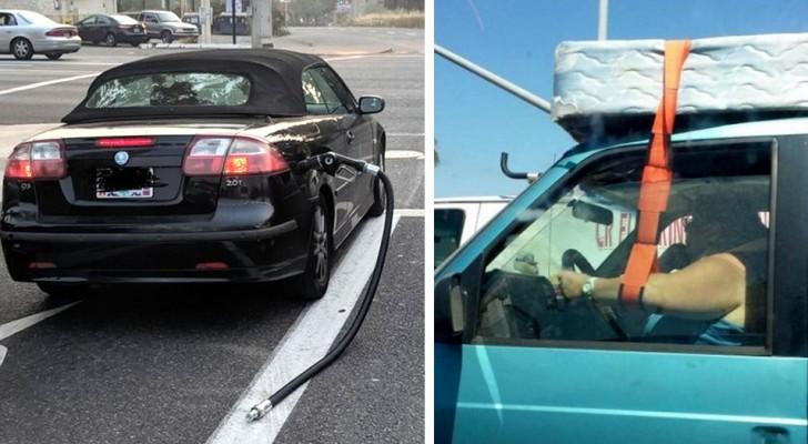 15 foto's van ongedisciplineerde automobilisten wier rijbewijzen onmiddellijk moeten worden ingetrokken