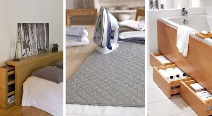 10 soluzioni ingegnose per ricavare spazio in casa e organizzare gli ambienti in modo efficiente