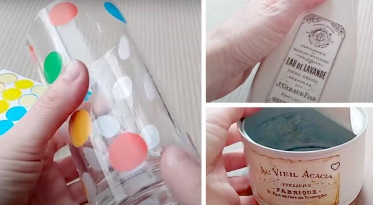 5 idee geniali ed economiche per decorare il bagno utilizzando il riciclo creativo