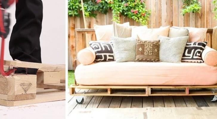 Come realizzare un comodo divano con i pallet: il metodo e i modelli da creare