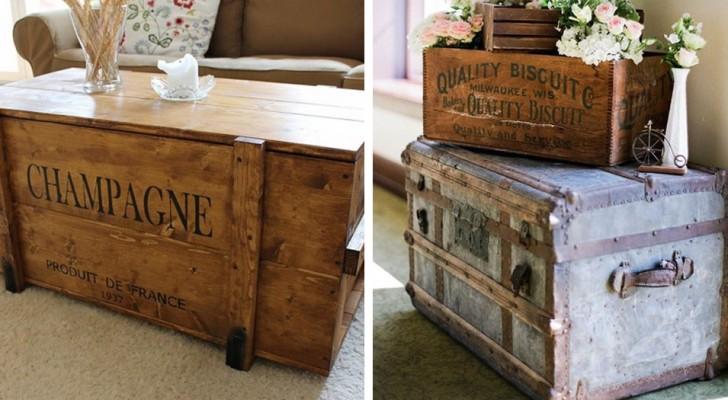 9 idee di riciclo creativo per usare le vecchie cassapanche in legno come decorazione shabby chic