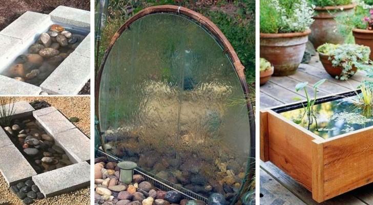 11 proposte incantevoli per creare un angolo relax in giardino con fontane e piccoli specchi d'acqua