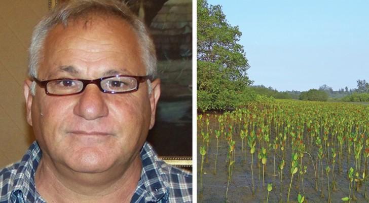 Quest'uomo ha piantato 152 milioni di mangrovie creando una foresta dove prima c'era terra mista a sale