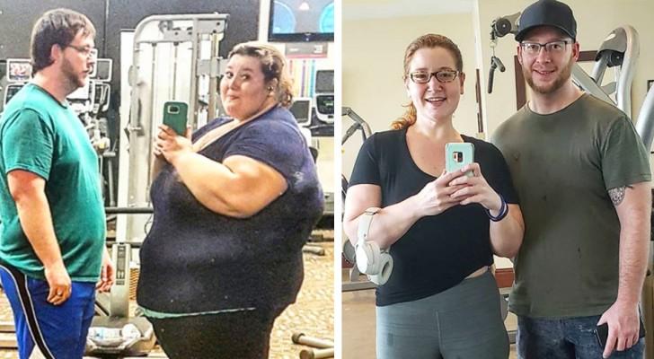 Depois de se casar, decidem mudar de vida: perdem mais de 180 kg treinando juntos