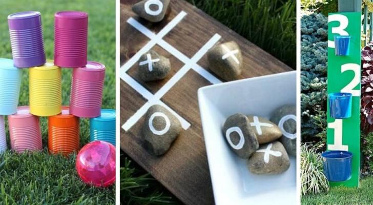 12 divertentissimi giochi fai-da-te per divertirsi all'aperto, adatti a tutte le età