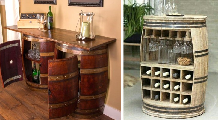 14 soluzioni irresistibili per riciclare vecchie botti di legno e renderle oggetti dal design unico