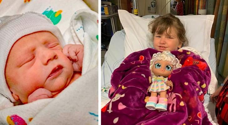 Een 4-jarig meisje geeft het beenmerg aan haar kleine broertje die aan een zeldzame ziekte lijdt waardoor ze zijn leven redt