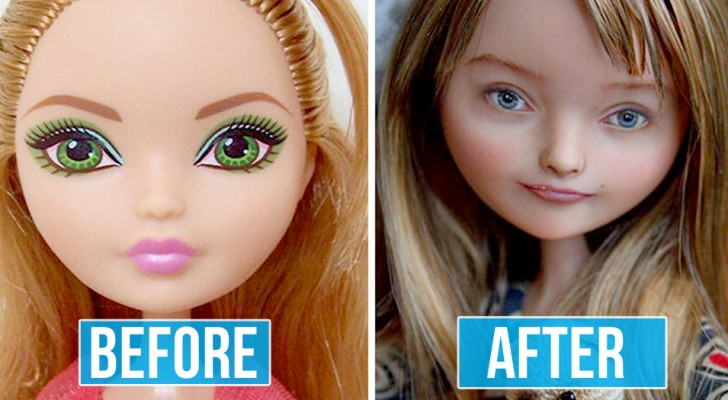 Quest'artista rimuove il trucco dal volto delle bambole e le ridipinge per rendere la loro bellezza più naturale
