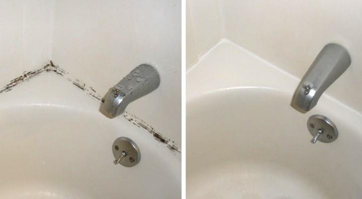 Il trucco semplicissimo per liberarsi della muffa che si forma nella doccia o nella vasca da bagno