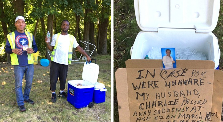 The husband left cold drinks in the street for the garbage collectors: when he dies, the wife continues the generosity
