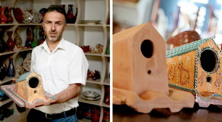Une usine en Turquie fabrique des tuiles qui abritent les oiseaux et les protègent des intempéries