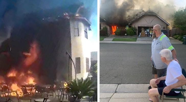 Un éboueur voit de la fumée sortir d'une maison : il se précipite à l'intérieur et sauve deux personnes âgées de l'incendie