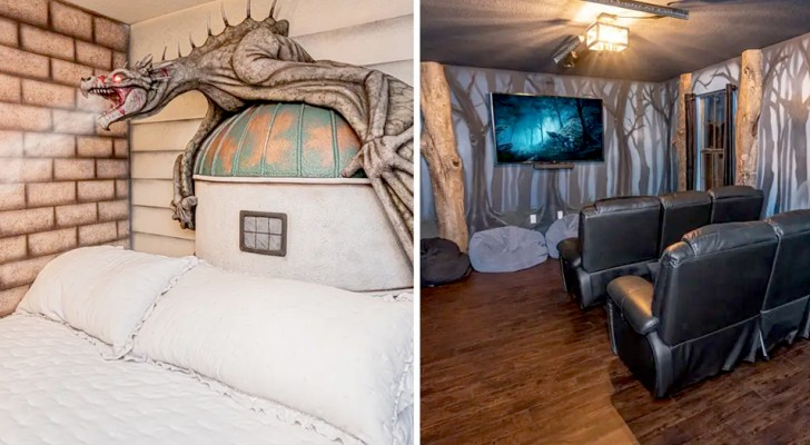 Cet hôtel renferme 8 chambres qui transportent les clients dans le monde magique d'Harry Potter