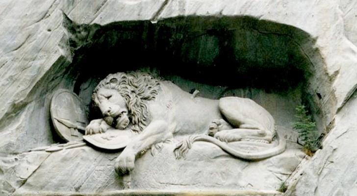 Der Löwe von Luzern: die Skulptur, in der der Künstler aus Trotz die Silhouette eines Schweins versteckt hat