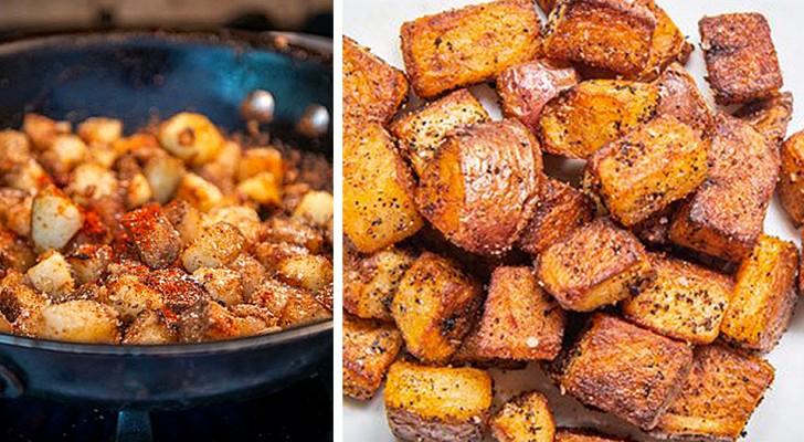 Het recept voor het bereiden van heerlijke zelfgemaakte rustieke aardappelen: krokant van buiten en zacht van binnen