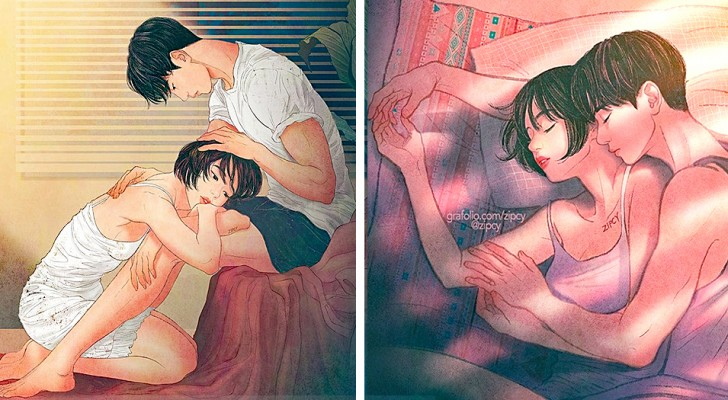 This girl's sweet drawings manage to describe love better than many romantic words