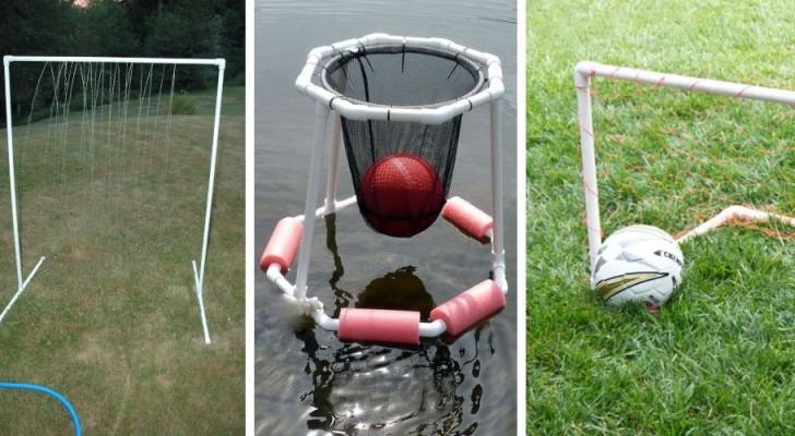 11 trovate spassose per creare giochi divertenti per tutta la famiglia con tubi in PVC