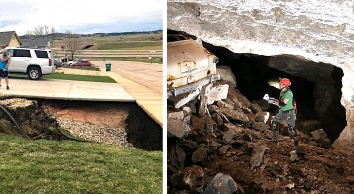 USA : un énorme gouffre se forme dans le sol : à l'intérieur, une vieille mine abandonnée