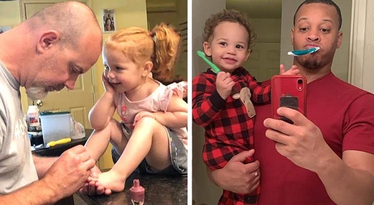 15 foto che mostrano tutto l'affetto e la tenerezza che un padre può dare ai suoi figli