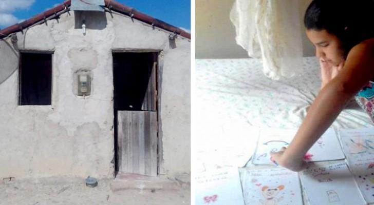 Una bambina di 11 anni vende favole scritte da lei stessa per aiutare i genitori a ricostruire la casa