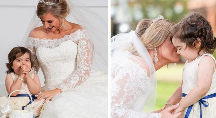 La petite fille de 3 ans devient la demoiselle d'honneur au mariage de sa donneuse de moelle osseuse : elle l'a sauvée de la leucémie