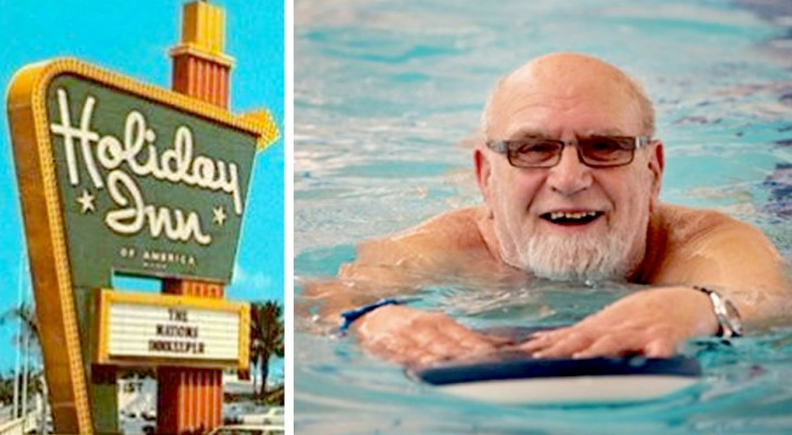 A 64-year-old decides to pass his retirement living in a Holiday Inn hotel