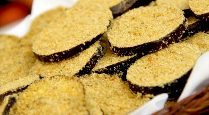 Panierte Auberginen aus dem Ofen: kalorienarm und einfach