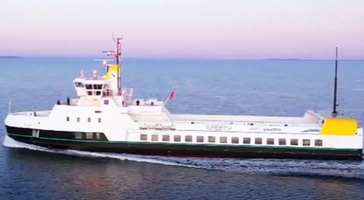 Ellen is de eerste volledig elektrische veerboot: licht, vermindert vervuiling en laadt in 20 minuten op