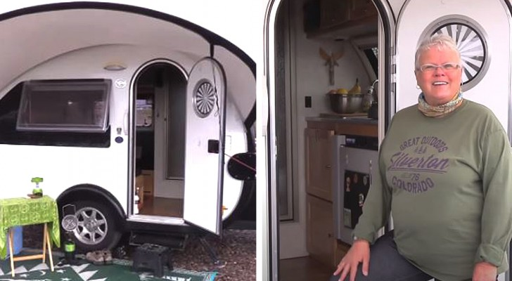 Klein, aber mit allem Komfort: Rentnerin kauft Mini-Wohnwagen und reist durch die USA