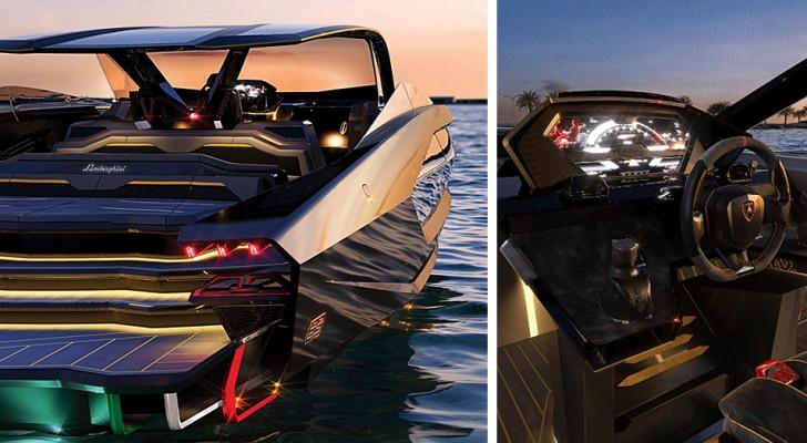 Lamborghini presenteert zijn eerste jacht: de boot van 3 miljoen euro die eruitziet als een sportwagen