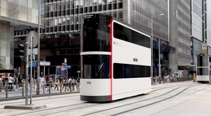 Island, de nieuwste generatie zelfrijdende tram die de sociale afstand van passagiers bevordert