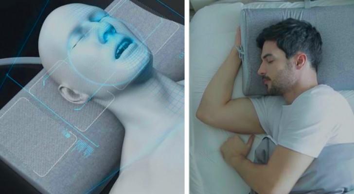Questo cuscino intelligente è dotato di airbag che muovono la testa di chi dorme quando inizia a russare
