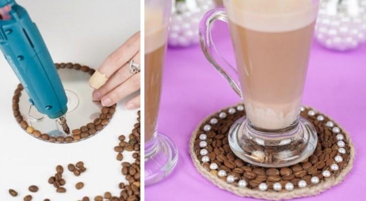 Il metodo facile e originale per realizzare dei fantastici sottobicchieri con i chicchi di caffè tostato