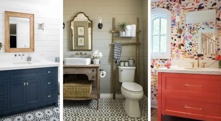 7 combinazioni di colori infallibili per decorare e arredare il bagno con stile