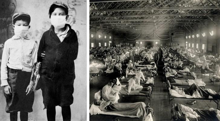 10 foto di repertorio testimoniano il triste corso dell'influenza Spagnola del 1918