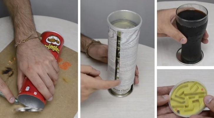 3 lavoretti facili e ingegnosi che si possono realizzare riciclando un tubo di patatine