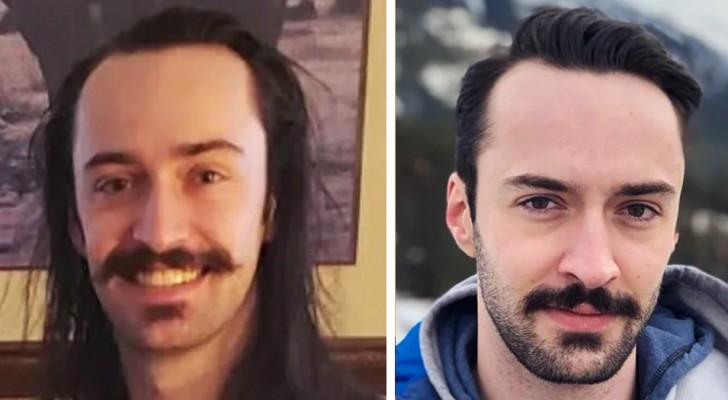 15 bilder på män som just kommit ut från frisören och som visar hur en klippning kan göra stor skillnad