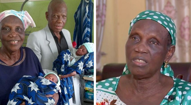 A woman gives birth for the first time at 68 years old; she's now the mother of two beautiful twin boys