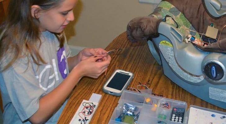 Een 12-jarig meisje heeft een apparaat uitgevonden om te voorkomen dat kinderen in de auto worden achtergelaten