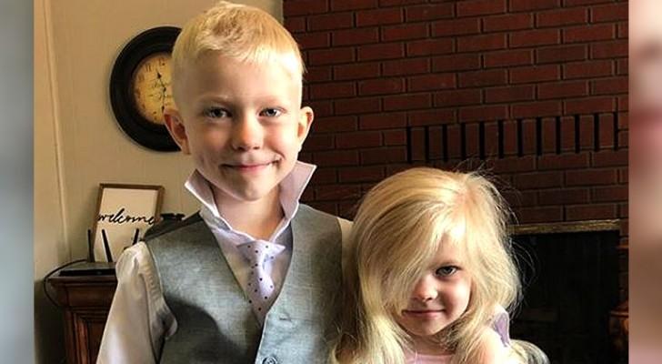 Un bimbo di 6 anni salva la sorellina dall'attacco di un cane: