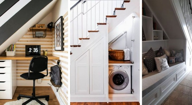 14 soluzioni ingegnose per arredare lo spazio sotto le scale con gusto e praticità