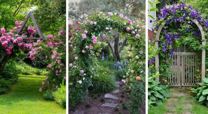 9 magnifici archi fioriti per decorare il giardino in modo unico e spettacolare