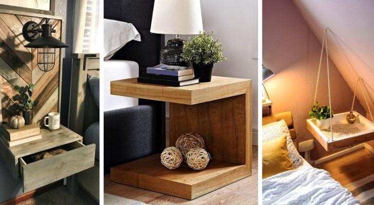 8 idee brillanti per creare comodini funzionali e pieni di stile con il fai-da-te