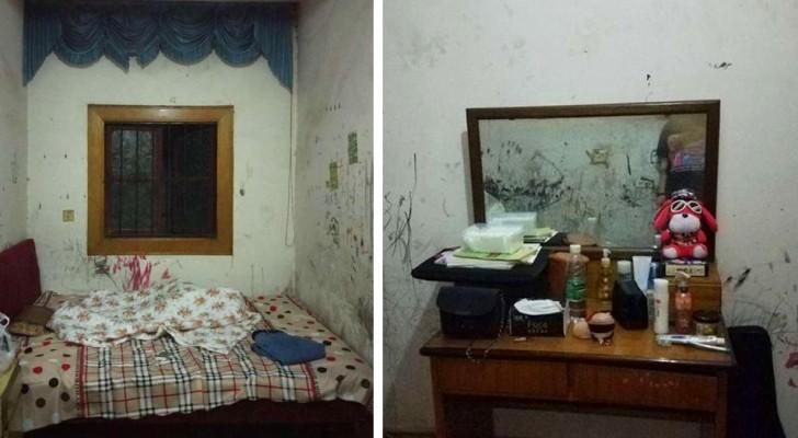 Com muito pouco dinheiro, um estudante conseguiu reformar seu quarto velho e sujo: um ótimo trabalho
