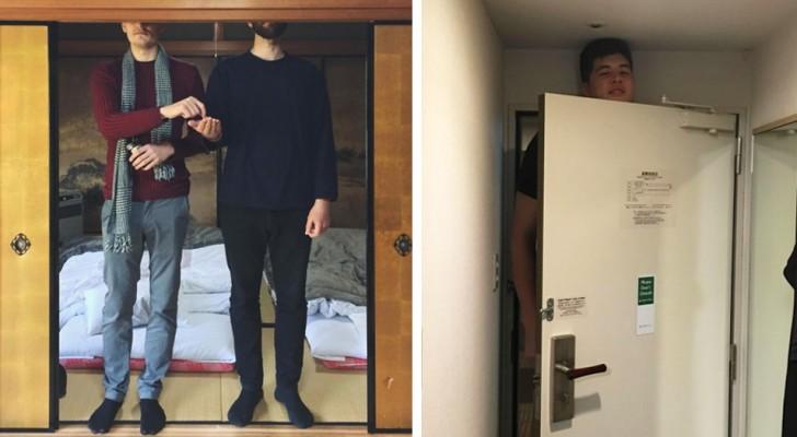 12 persone di alta statura che sono andate in Giappone e hanno dovuto affrontare delle difficoltà esilaranti